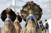 """JUAZEIRO DO NORTE, CE, 30.10.2013 – ROMEIROS JUAZEIRO DO NORTE : Movimentação de romeiros na Colina do Horto onde fica a estátua de Padre Cícero nesta quarta feira (30). Os romeiros chegam de diversas cidades do nordeste para a Romaria de Finados de Juazeiro do Norte, que acontece no próximo sabado (2), onde são esperados mais de 600 mil fiéis. O tema da romaria este ano é: """"Com o Padre Cícero, somos Igreja peregrina que caminha para a Luz"""". . . Foto: Levi Bianco - Brazil Photo Press."""