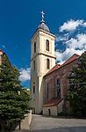 Zielona Góra (woj. lubuskie), 20.07.2013. Konkatedra św. Jadwigi.