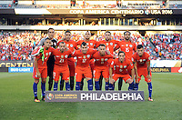 Philadelphia, PA - Tuesday June 14, 2016: Chile Starting Eleven prior to a Copa America Centenario Group D match between Chile (CHI) and Panama (PAN) at Lincoln Financial Field.