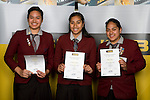 Girls Volleyball finalists Eseta Mark, Magaret Lafaele & Pogai Falemai. ASB College Sport Young Sportperson of the Year Awards 2008 held at Eden Park, Auckland, on Thursday November 13th, 2008.