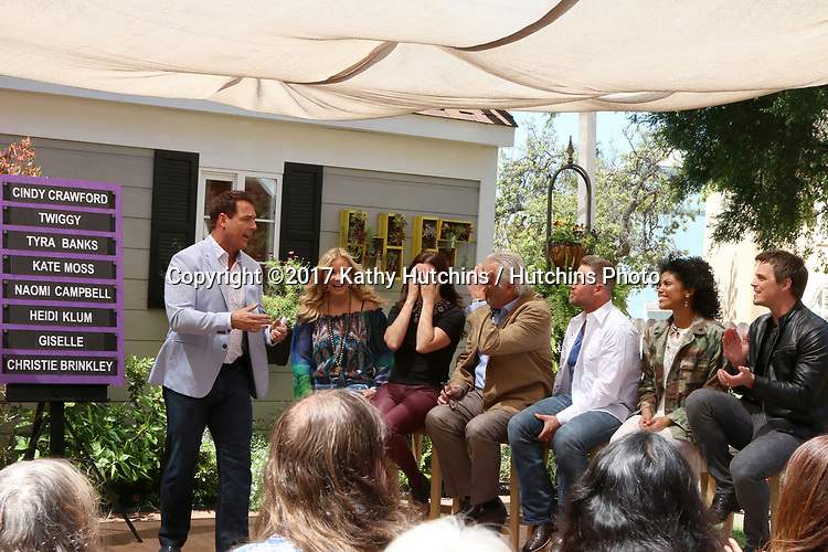 """LOS ANGELES - APR 14:  Mark Steines, Katherine Kelly Lang, Heather Tom, John McCook, Jacob Young, Karla Mosley, Darin Brooks at the """"Home and Family"""" Celebrates """"Bold and Beautiful's"""" 30 Years at Universal Studios Back Lot on April 14, 2017 in Los Angeles, CA"""