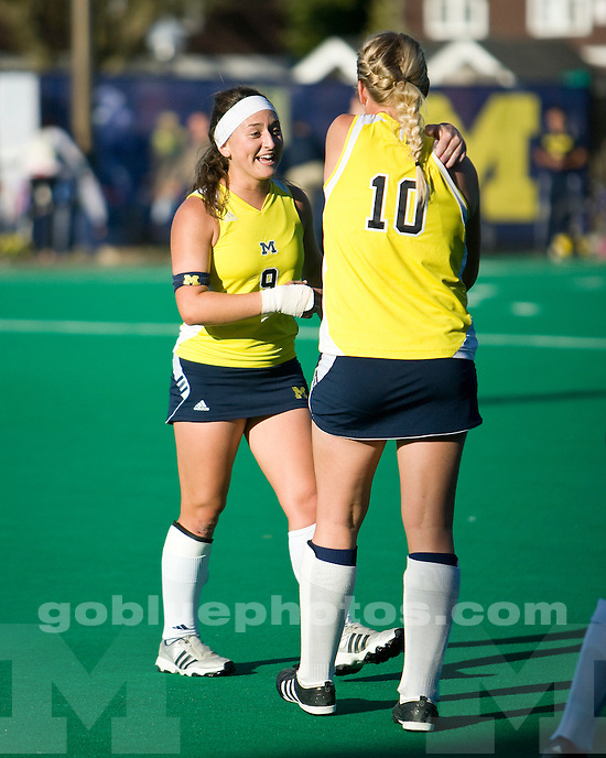 University of Michigan field hockey 2-1 victory over Michigan State University at Ocker Field in Ann Arbor on October 1, 2010.