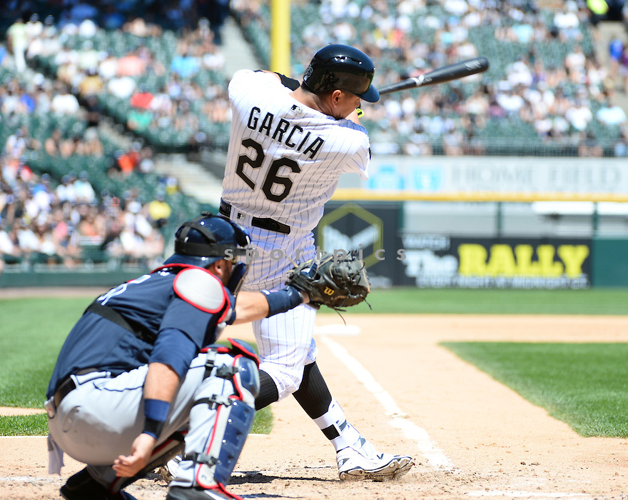 Chicago White Sox Avisail Garcia (26) during a game against the Atlanta Braves on July 9, 2016 at US Cellular Field in Chicago, IL. The White Sox beat the Braves 5-4.