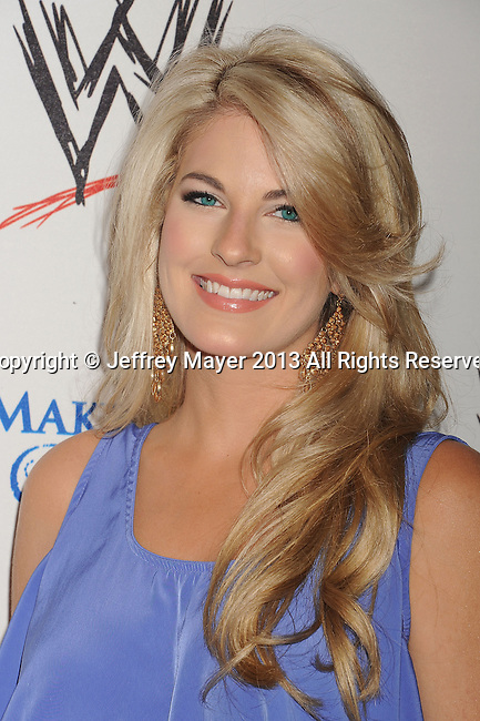 BEVERLY HILLS, CA- AUGUST 15:  Actress Stephanie Leigh Schlund attends WWE & E! Entertainment's 'SuperStars For Hope' at the Beverly Hills Hotel on August 15, 2013 in Beverly Hills, California.