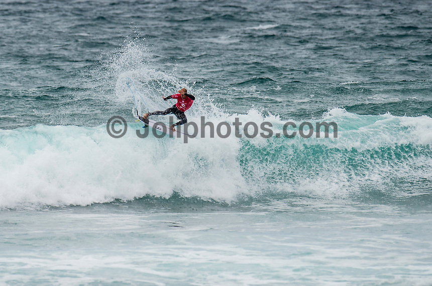 BELLS BEACH, Victoria/AUS (Monday, March 28, 2016) Kelly Slater (USA) - Action at the Rip Curl Pro Bells Beach, the second stop on the World Surf League (WSL) Championship Tour (CT), continued today with the remaining six heats of Round Three before the contest was called off for the day.<br /> There were onshore South West winds throughout the day with a dropping swell in the 3'-5' range. <br /> The Heritage Round with Damien Hardman (AUS) and Barton Lynch (AUS) was held today with Lynch coming out victorious. <br /> <br /> Bells Beach has been hosting surfing tournaments for more than 50 years now, making it the most renowned spot on the raw and rugged southern coast of Victoria, Australia. The list of  Rip Curl Pro event champions is a veritable who's who of surfing icons, including many world champions.<br /> <br /> Surfing's greats have a way of dominating Bells. Mark Richards, Kelly Slater, and Mick Fanning all have four Bells trophies; Michael Peterson and Sunny Garcia, three; While Simon Anderson, Tom Curren, Joel Parkinson, Andy Irons, and Damien Hardman each grabbed a pair.<br /> <br /> The story is similar on the women's side. Lisa Andersen and Stephanie Gilmore have four Bells titles; Layne Beachley and Pauline Menczer, three; while Kim Mearig and Sally Fitzgibbons each have two.<br /> <br /> The 2016 event is about to kick off tomorrow and there was a packed warm up session at Bells this morning. <br /> Photo: joliphotos.com