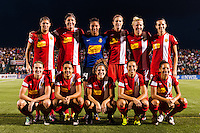 Western New York Flash starting XI. The Portland Thorns defeated the Western New York Flash 2-0 during the National Women's Soccer League (NWSL) finals at Sahlen's Stadium in Rochester, NY, on August 31, 2013.