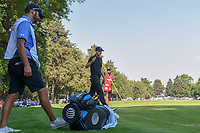 Jordan Spieth (USA) sinks his putt from the collar during round 4 of the World Golf Championships, Mexico, Club De Golf Chapultepec, Mexico City, Mexico. 3/4/2018.<br /> Picture: Golffile | Ken Murray<br /> <br /> <br /> All photo usage must carry mandatory copyright credit (&copy; Golffile | Ken Murray)