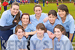 Meadhbh Daly, Emma Looney, Sorcha Daly. Back row: Michelle Fleming, Tracy Coffey, Josie Stephens, Orla Bruton and Eimear Tangney St Bridgid's, Killarney participating at the Kerry Vocational School's Cross Country athletic championships in Killarney on Friday