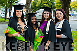 Nursing Studies with Maternity Care graduates Andreza Conclaves, Tralee, Nolisi Ncube, Killarney, Leanne O'Regan Ballyhigue and Emma Hurley, Tralee Nursing with Maternity Care at the Kerry College of Further Education Graduations at the Brandon Hotel on Thursday.