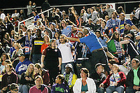 Piscataway, NJ - Sunday Sept. 25, 2016: Cloud Nine supporters  during a regular season National Women's Soccer League (NWSL) match between Sky Blue FC and the Portland Thorns FC at Yurcak Field.