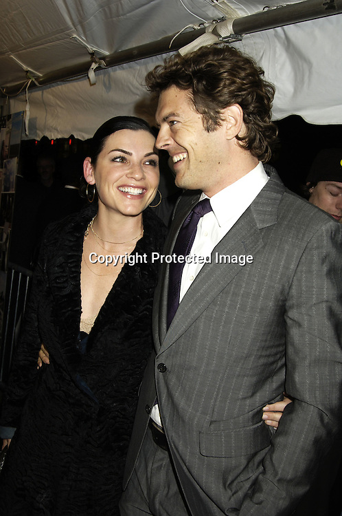 """Julianna Margulies and Jason Blum ..at The New York Premiere of """"Elizabethtown""""  on     October 10, 2005 at The Loews LIncoln Square. ..Photo by Robin Platzer, Twin Images"""