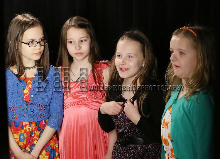 Oona Laurence, Bailey Ryon, Sophia Gennusa, Milly Shapiro  'In The Spotlight' at the 2013 Tony Awards Meet The Nominees Junket  at the Millennium Broadway Hotel in New York on 5/1/2013.