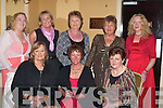 SUPPORTERS: The Moyvane ladies who supported the Kerry Supporters Gala Dinner in Ballygarry House Hotel & Spa, Tralee on Saturday night were front l-r: Margaret Lynch, Ann Keane and Marie Walsh. Back l-r: Aine Cronin, Margaret O'Connor, Patricia Walsh, Eileen Cremins and Eileen Sheehan.   Copyright Kerry's Eye 2008