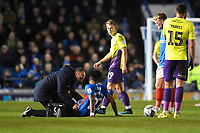 Injury concern for Ellis Harrison of Portsmouth during Portsmouth vs Exeter City, Leasing.com Trophy Football at Fratton Park on 18th February 2020