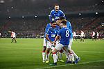 28.11.2019: Feyenoord v Rangers: Alfredo Morelos celebrates his second goal for Rangers