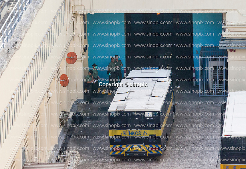 British ex-banker Rurik Jutting leaves the Lai Chi Kok Reception Centre in a high security prison van on his way to his trial at the High Court of Hong Kong for the alleged killing of two Indonesian women in October 2014, Hong Kong, China, 01 November 2016.