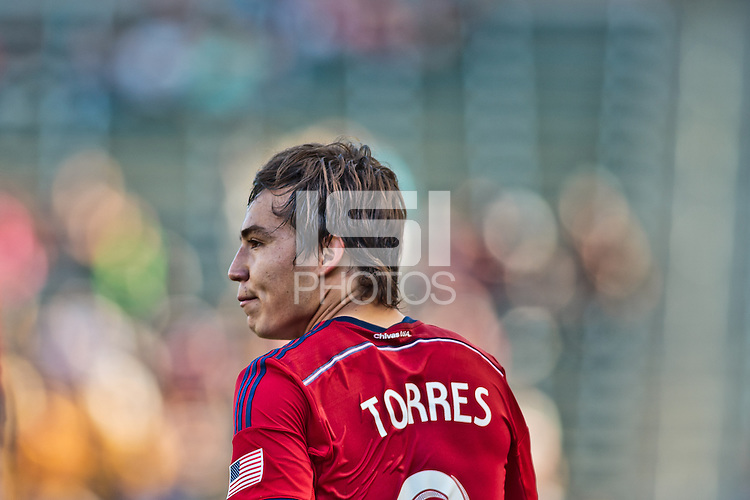 Carson, California - March 16, 2014: The CD Chivas USA and Vancouver Whitecaps played to a 1-1 tie in their Major League Soccer (MLS) game at StubHub Center stadium.