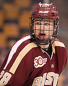 Scott Savage (BC - 28) - The Boston College Eagles defeated the Boston University Terriers 3-1 (EN) in their opening round game of the 2014 Beanpot on Monday, February 3, 2014, at TD Garden in Boston, Massachusetts.