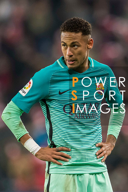Neymar da Silva Santos Junior of FC Barcelona reacts during their Copa del Rey Round of 16 first leg match between Athletic Club and FC Barcelona at San Mames Stadium on 05 January 2017 in Bilbao, Spain. Photo by Victor Fraile / Power Sport Images