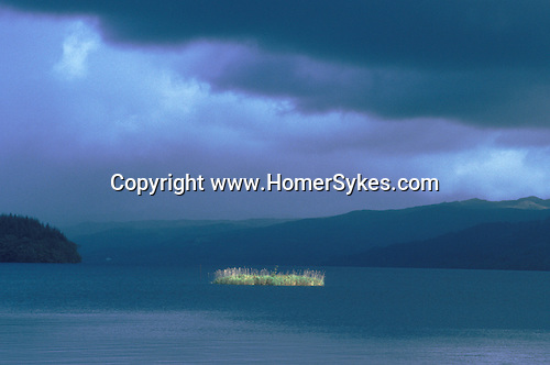 Crannog. Loch Awe, Nr Ford, Argyll and Bute Scotland. Celtic Britain published by Orion