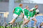 Feale Rangers in action against Mairtin Ferris Saint Brendans in the Quarter Finals of the County Championship at Austin STack PArk on Sunday.