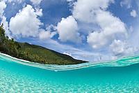 Split level .Trunk Bay, St John.Virgin Islands National Park