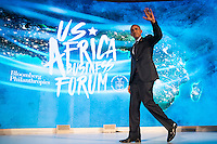 United States President Barack Obama exits the stage after speaking at the U.S.-Africa Business Forum at the Plaza Hotel, September 21, 2016 in New York City. The forum is focused on trade and investment opportunities on the African continent for African heads of government and American business leaders. Photo Credit: Drew Angerer/CNP/AdMedia