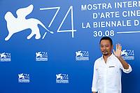 Zhang Hanyu at the &quot;Zhuibu (Manhunt) &quot; photocall, 74th Venice Film Festival in Italy on 8 September 2017.<br /> <br /> Photo: Kristina Afanasyeva/Featureflash/SilverHub<br /> 0208 004 5359<br /> sales@silverhubmedia.com