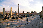Jordan, Jerash. The Cardo, or the colonnaded street&amp;#xA;<br />