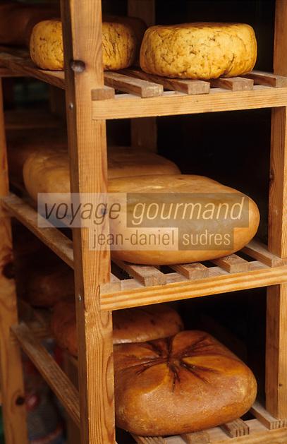 Europe/Espagne/Baléares/Minorque/Mahon : Le marché du cloître - Fromages de Mahon