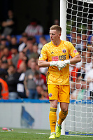 Dean Henderson of Sheffield United seen during the Premier League match between Chelsea and Sheff United at Stamford Bridge, London, England on 31 August 2019. Photo by Carlton Myrie / PRiME Media Images.