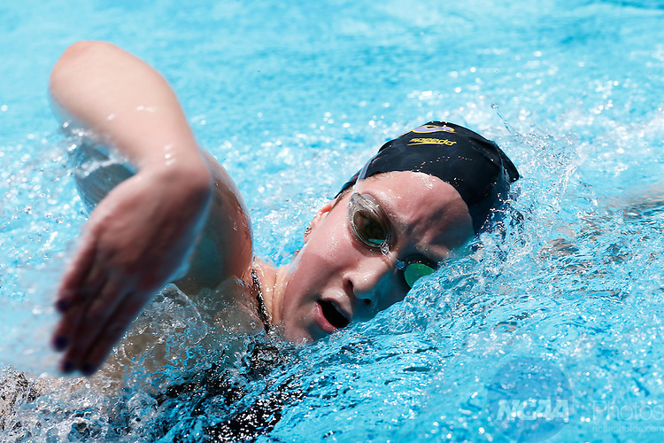 22 MAR 2014: Sarah Thompson of Williams College competes in the Women's 1650 Yard Freestyle during the Division III Men's and Women's Swimming and Diving Championship held at the IU Natatorium in Indianapolis, IN. Thompson won the event with a time of 16:31.17. Joe Robbins/NCAA Photos