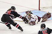 Hayley Scamurra (NU - 14), Corinne Boyles (BC - 29) - The Boston College Eagles defeated the Northeastern University Huskies 3-0 on Tuesday, February 11, 2014, to win the 2014 Beanpot championship at Kelley Rink in Conte Forum in Chestnut Hill, Massachusetts.