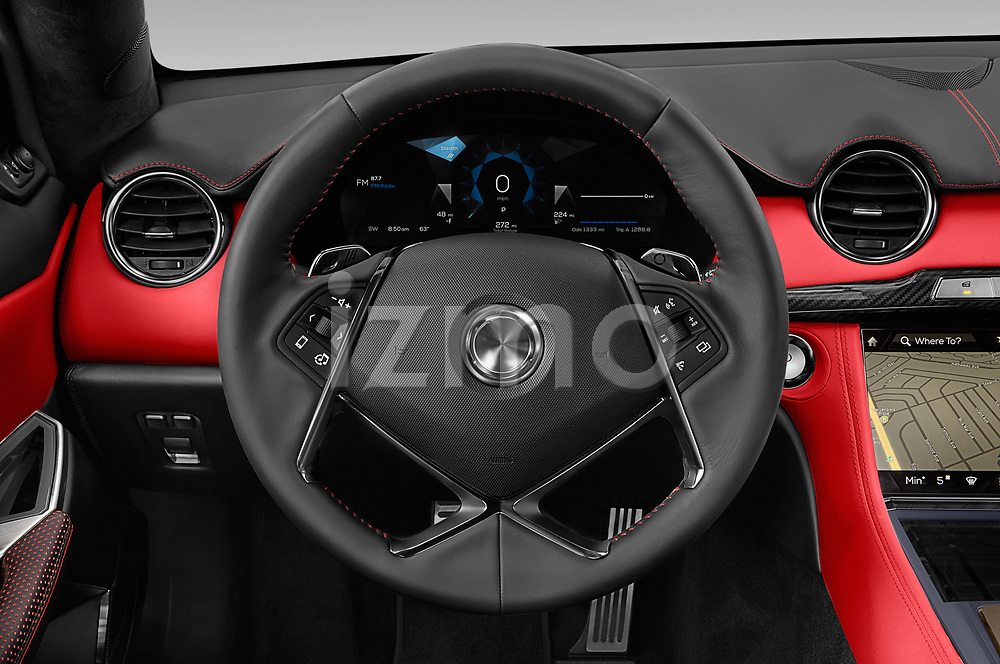 Car pictures of steering wheel view of a 2019 Karma Revero - 4 Door Sedan Steering Wheel