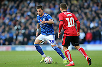 Anthony Georgiou of Ipswich Town and Jack Payne of Lincoln City during Ipswich Town vs Lincoln City, Emirates FA Cup Football at Portman Road on 9th November 2019