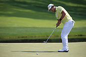 4th June 2017, Dublin, OH, USA;  Hideki Matsuyama of Japan putts on the ninth hole during the final round of The Memorial Tournament  at the Muirfield Village Golf Club in Dublin, OH.