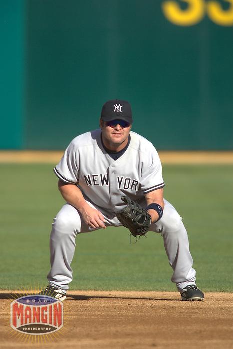 Jason Giambi. New York Yankees vs Oakland Athletics. Oakland, CA 9/4/2005 MANDATORY CREDIT: Brad Mangin