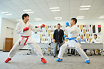 (L to R) <br /> Ryutaro Araga, <br /> Hiroto Shinohara, <br /> AUGUST 7, 2015 : <br /> World Karate Federation (WKF) <br /> holds a media conference following its interview <br /> with the Tokyo 2020 Organising Committee in Tokyo Japan. <br /> (Photo by YUTAKA/AFLO SPORT)