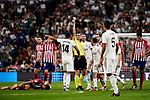 Juan Martinez Munuera FIFA Referee (C) in action during their La Liga  2018-19 match between Real Madrid CF and Atletico de Madrid at Santiago Bernabeu on September 29 2018 in Madrid, Spain. Photo by Diego Souto / Power Sport Images