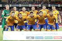FC Barcelona's team photo Marc-Andre Ter Stegen, Pedro Rodriguez, Javier Mascherano, Adriano Correia, Marc Bartra, Thomas Vermaelen, Leo Messi, Daniel Alves, Luis Suarez, Sergi Roberto and Rafinha during Supercup of Spain 1st match.August 14,2015. (ALTERPHOTOS/Acero)