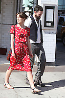 Keira Knightley and Adam Levine on the set of &quot;Can a Song Save Your Life?&quot; in New York City. &copy; RW/MediaPunch Inc. July 3, 2012. /*NORTEPHOTO.COM*<br />