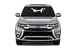 Car photography straight front view of a 2019 Mitsubishi Outlander PHEV Instyle 5 Door SUV