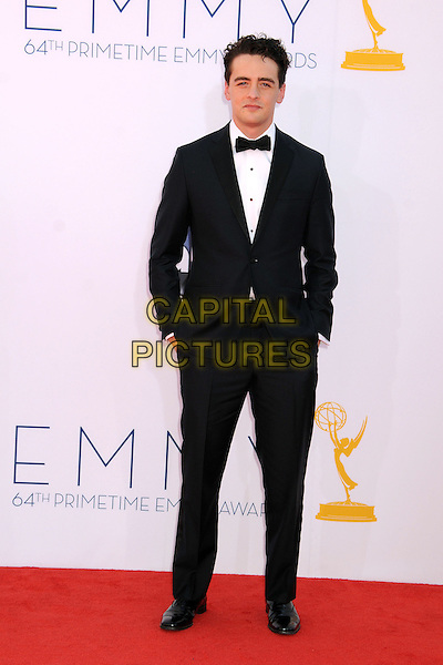 Vincent Piazza.The 64th Anual Primetime Emmy Awards - Arrivals, held at Nokia Theatre L.A. Live in Los Angeles, California, USA..September 23rd, 2012.emmys full length hands in pockets black white shirt tuxedo bow tie     .CAP/ADM/BP.©Byron Purvis/AdMedia/Capital Pictures.