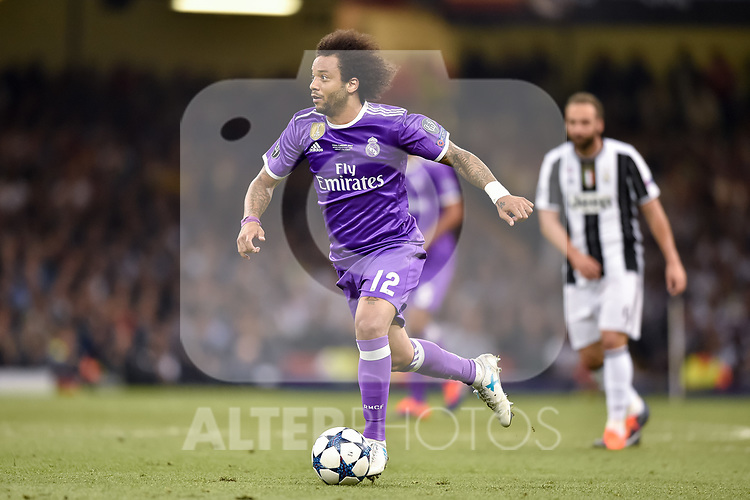 Marcelo of Real Madrid during the UEFA Champions League Final match between Real Madrid and Juventus at the National Stadium of Wales, Cardiff, Wales on 3 June 2017. Photo by Giuseppe Maffia.<br /> <br /> Giuseppe Maffia/UK Sports Pics Ltd/Alterphotos