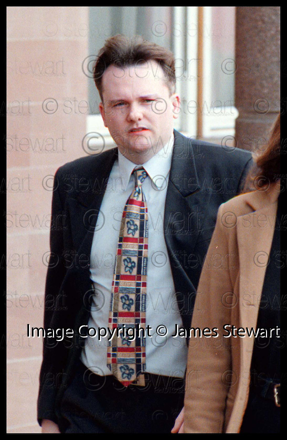 Copyright Pic : James Stewart   .FORMER FALKIRK COUNCILLOR JAMIE RAE WHO HAS NOW RE-JOINED THE SNP AFTER HIS RELEASE FROM PRISON.......... THE PHOTOGRAPH SHOWS MR RAE AS HE ARRIVES AT FALKIRK SHERIFF COURT, 2ND APRIL 1997, WHERE HE WAS JAILED FOR 18 MONTHS FOR HOUSING FRAUD.......  .Payments to :-.James Stewart Photo Agency, Stewart House, Stewart Road, Falkirk. FK2 7AS      Vat Reg No. 607 6932 25.Office : 01324 630007        Mobile : 0421 416997.If you require further information then contact Jim Stewart on any of the numbers above.........