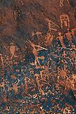 USA, Utah, Bluff, Sand Island Petroglyph panel, Southeast Utah rock art, Kokopelli