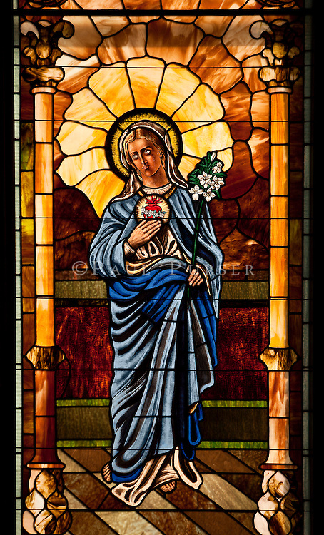 Charlotte NC - Stained Glass at St Peters Catholic Church
