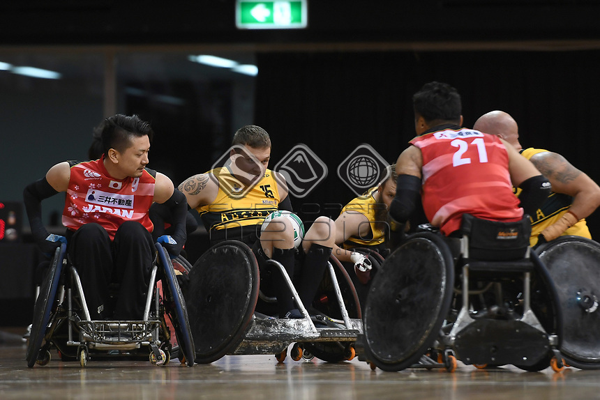 Andrew Harrison (AUS)  vs Japan<br /> Australian Wheelchair Rugby Team<br /> 2018 IWRF WheelChair Rugby <br /> World Championship / Day 4<br /> Sydney  NSW Australia<br /> Wednesday 8th August 2018<br /> © Sport the library / Jeff Crow / APC