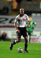 ATTENTION SPORTS PICTURE DESK<br /> Pictured: Darren Pratley of Swansea City in action <br /> Re: Coca Cola Championship, Swansea City Football Club v Nottingham Forest at the Liberty Stadium, Swansea, south Wales. Saturday 12 December 2009