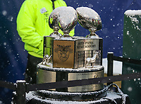 Philadelphia, PA - December 9, 2017:   A view of the Commander in Chief Trophy  during the 118th game between Army vs Navy at Lincoln Financial Field in Philadelphia, PA. (Photo by Elliott Brown/Media Images International)
